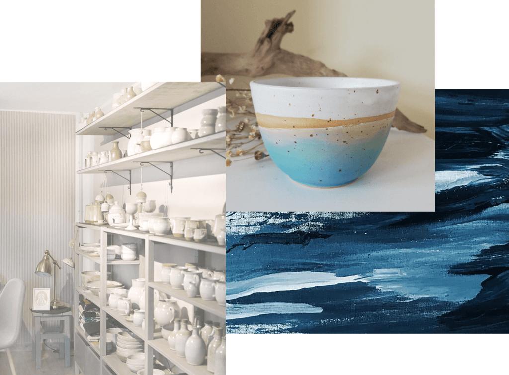 Collage aus Kunst und Kunsthandwerk in Vorpommern